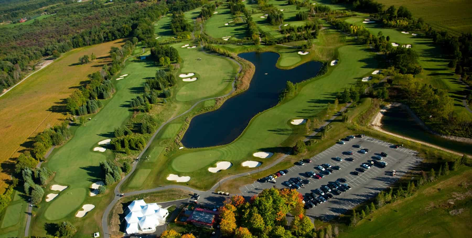 Aerial view of Dragon's Fire Golf Course